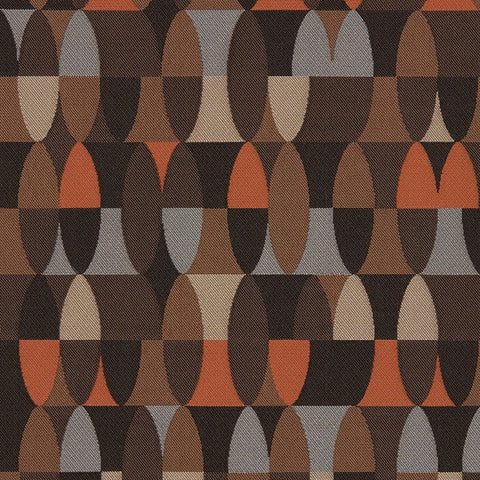 Maharam Span Char Geometric Brown Upholstery Fabric