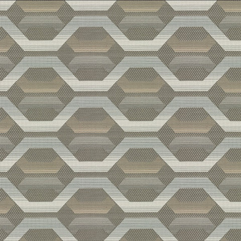 Remnant of Carnegie Hive 20 Sunbrella Gray Upholstery Fabric