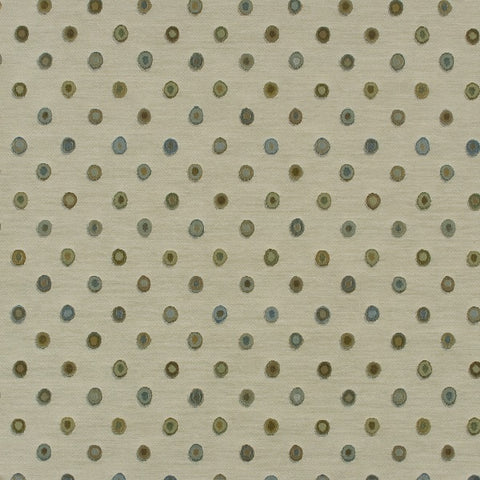 Arc-Com Bubbly Ivory Colorful Circle Upholstery Fabric