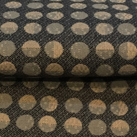 Swavelle Mill Creek Black Taupe Dotted Stripe Upholstery Fabric