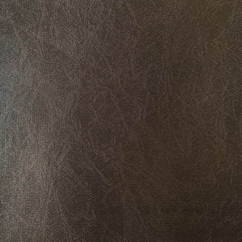 Brown Smooth Leather Grain Micro Suede Upholstery Fabric