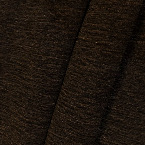 Brown Textured Weave Chenille Upholstery Fabric