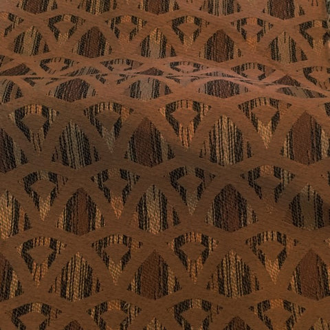 Swavelle Mill Creek Neutral Toned Brown Diamond Pattern Upholstery Fabric