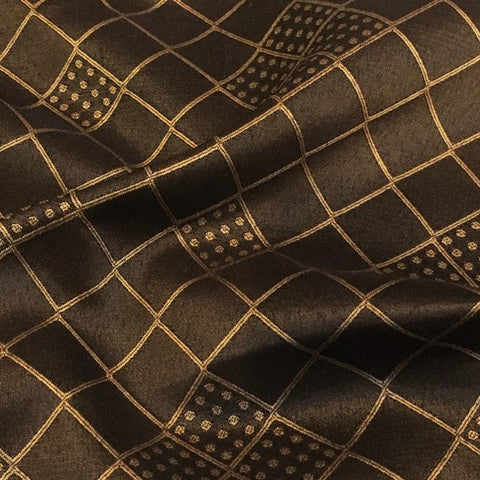 Swavelle Mill Creek Hoppers Bronze Brown Gold Diamond Upholstery Fabric