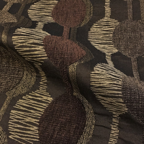 Twin Brooks Woodland Geometric Brown Upholstery Fabric