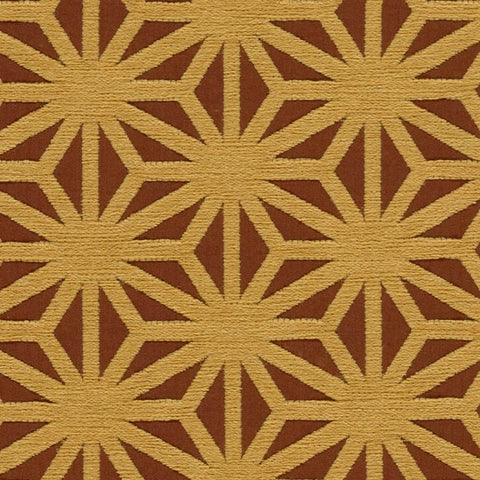 Arc-Com Kirigami Papaya Brown Upholstery Fabric