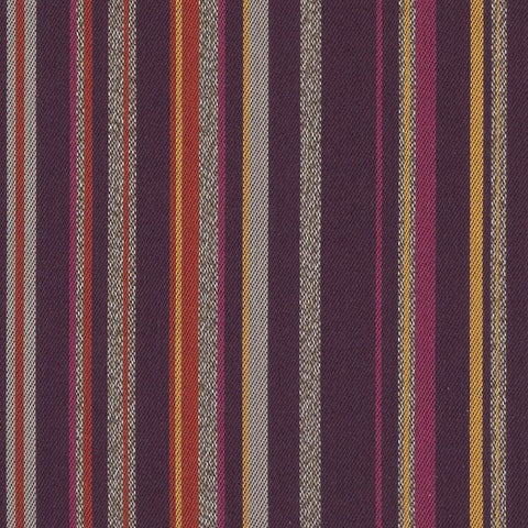 Arc-Com Campus Stripe Amethyst Colorful Stripe Upholstery Fabric