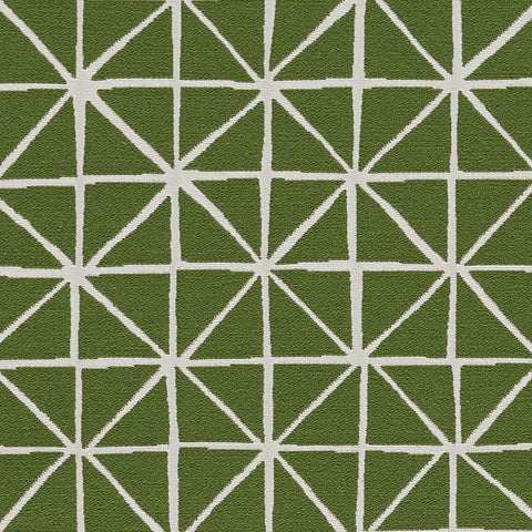 Fabric Remnant of Arc-Com Grid Grass Upholstery Fabric