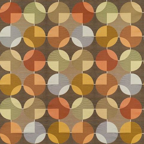 Arc-Com Compass Chestnut Geometric Upholstery Fabric