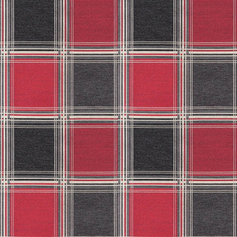 Arc-Com The Plaid Flame Upholstery Fabric