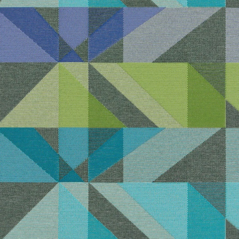Arc-Com Crystal Twilight Geometric Blue Upholstery Fabric