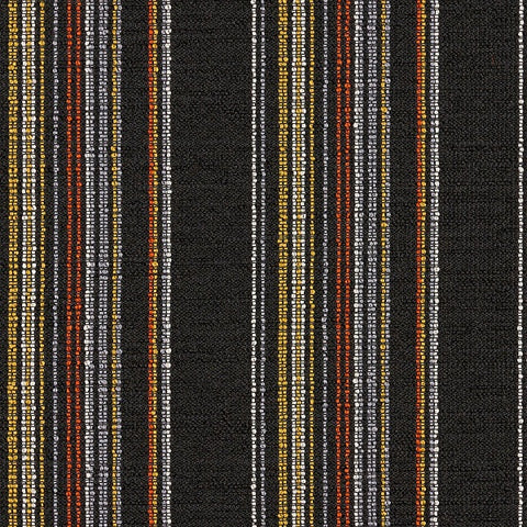 Arc-Com Raya Onyx Stripe Black Upholstery Fabric