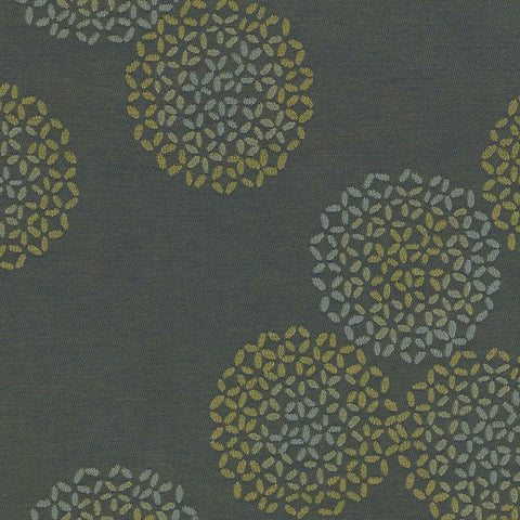 Remnant of Arc-Com Brayer Flower Herb Upholstery Fabric