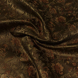 Airy Bronze Floral Brown Upholstery Fabric