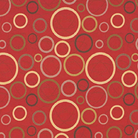 Architex Astronomy Sun Crypton Geometric Red Upholstery Fabric