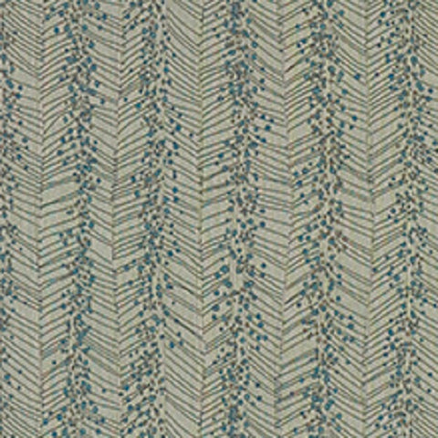 Billow Turtle Beach Outdoor Abstract Chevron Stripe Upholstery Fabric