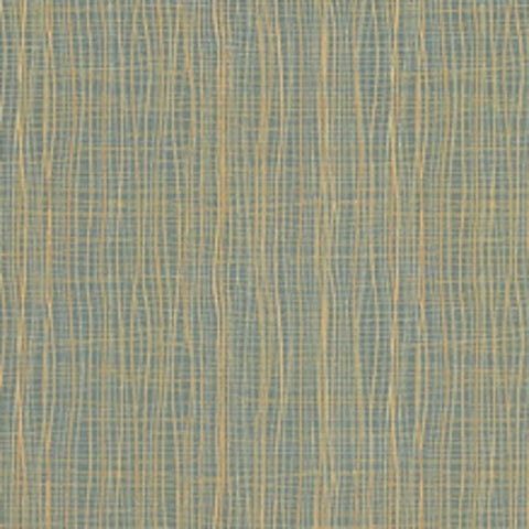 Architex Brook Cypress Crypton Wavy Stripe Blue Upholstery Fabric