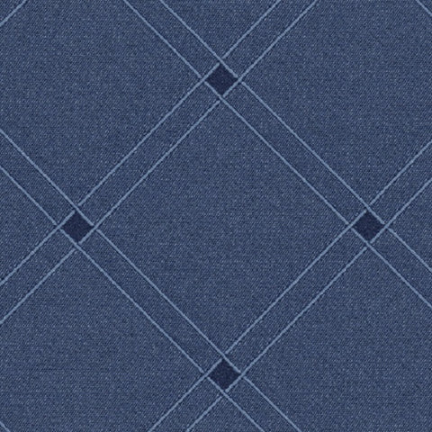 Fabric Remnant of Knoll Cats Cradle Denim Upholstery Fabric