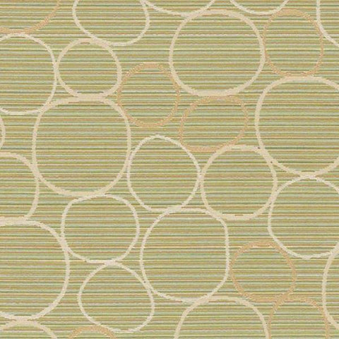 CF Stinson Upholstery Fabric Modern Design Circles Bongo Green Tea