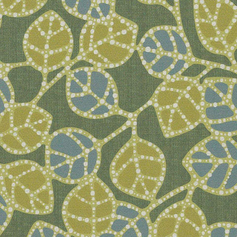 CF Stinson Fabric Remnant of Casablanca Leaf