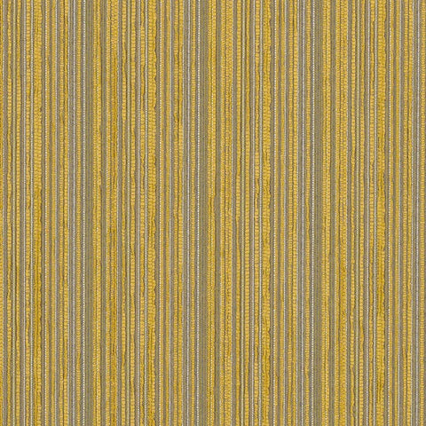 Remnant of CF Stinson Continuum Finch Yellow Stripe Upholstery Fabric