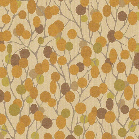 CF Stinson Upholstery Fabric Remnant Natural World Marigold