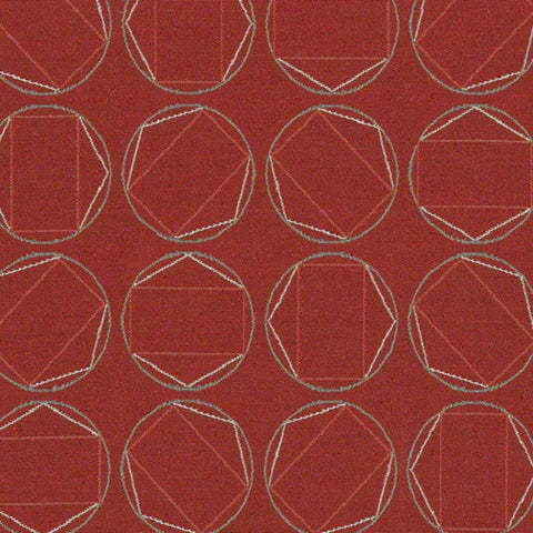 CF Stinson Upholstery Fabric Remnant Swivel Red