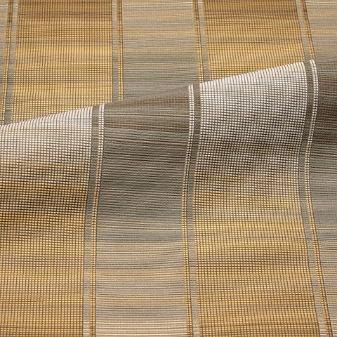 CF Stinson Diffusion Brass Large Scale Stripe Taupe Upholstery Fabric