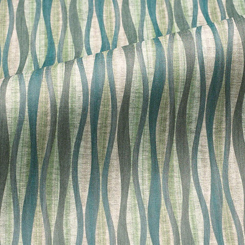 CF Stinson Lava Marsh Wavy Striped Green Upholstery Vinyl