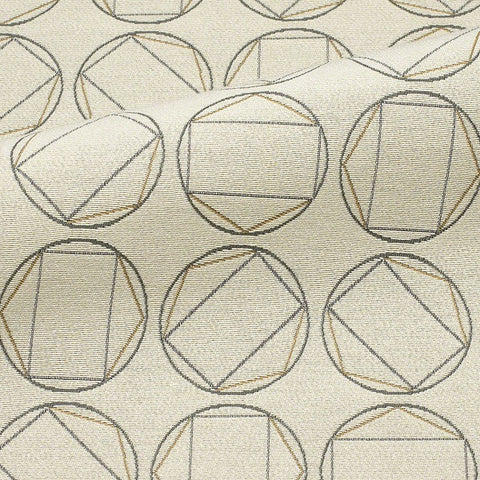 CF Stinson Swivel Chalk Geometric Beige Upholstery Fabric