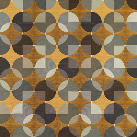 Arc-Com Fabrics Upholstery Fabric Geometric Design Compass Goldenrod