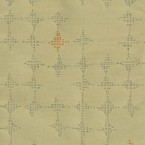 Designtex  Cut And Paste Ochre Colorful Checker Tan Upholstery Fabric