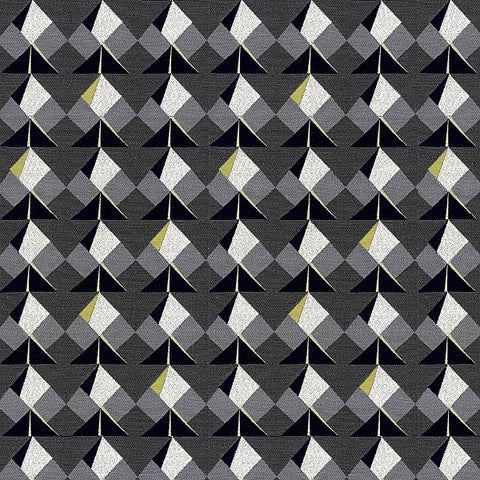 Carnegie Koi Color 20 Colorful Geometric Gray Upholstery Fabric