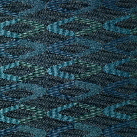 Maharam Divide Lagoon Rounded Diamonds Blue Upholstery Fabric