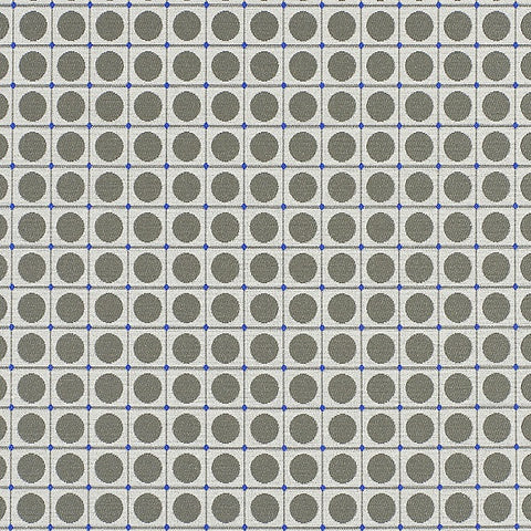 HBF Dot Grid Iron and Blue Upholstery Fabric