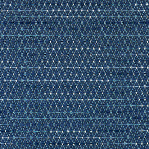 HBF Textiles Upholstery Fabric Outdoor Sunbrella Dot Structure Blue And Orange