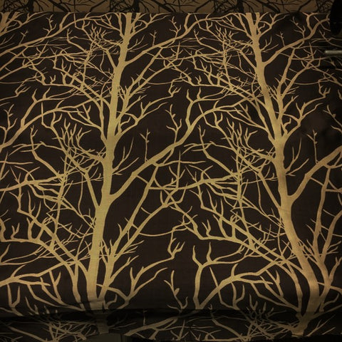 Element Tree Latte Designer Brown Drapery Fabric