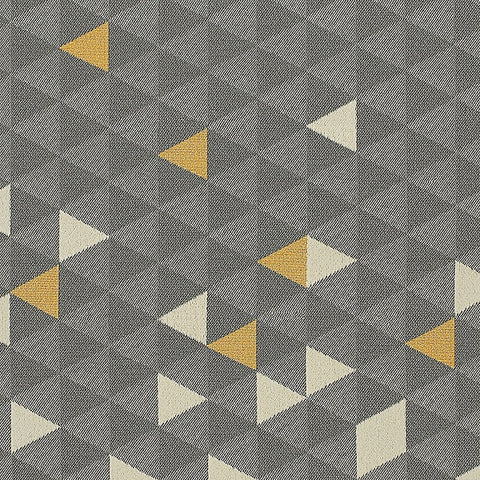 HBF Equation Divide Triangle Pattern Gray Upholstery Fabric