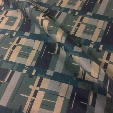 Designtex Birch Bark Plaid Bluebird Contemporary Blue Upholstery Fabric