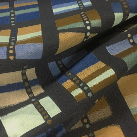 Momentum Audio Chanty Durable Blue Geometric Upholstery Fabric
