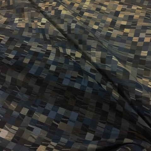 Arc-Com Shift Midnight Geometric Blue Upholstery Fabric