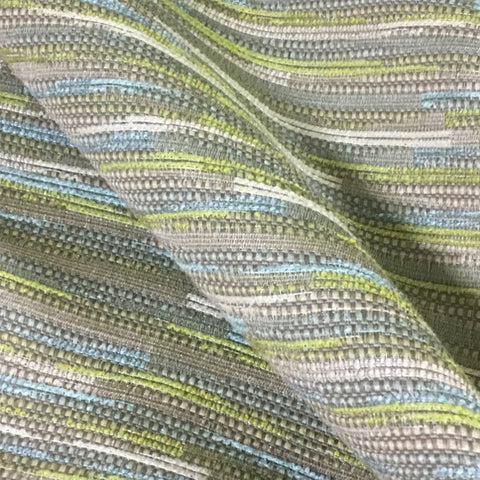 Mayer Bungalow Opal Textured Stripe Tan Upholstery Fabric