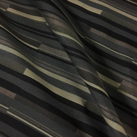 CF Stinson Bass Line Tuxedo Black Striped Upholstery Fabric