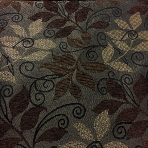 Swavelle Mill Creek Bruschi Rootbeer Brown Botanical Pattern Upholstery Fabric