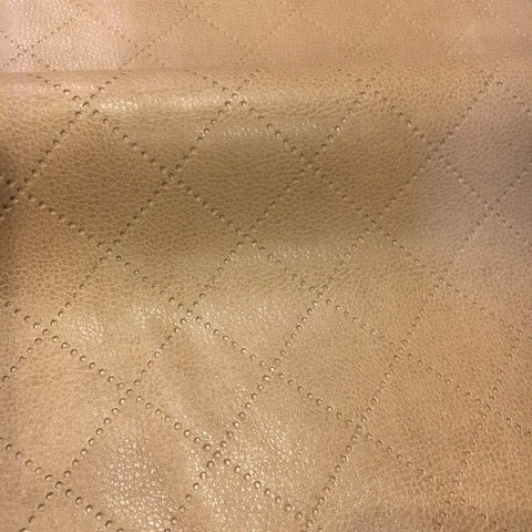 Richloom Gorman Latte Solid Brown Faux Leather Upholstery Vinyl