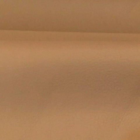 Solid Beige Faux Leather Grained Upholstery Vinyl