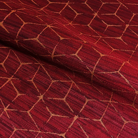 Arc-Com Itajime Ruby Modern Design Red Upholstery Fabric