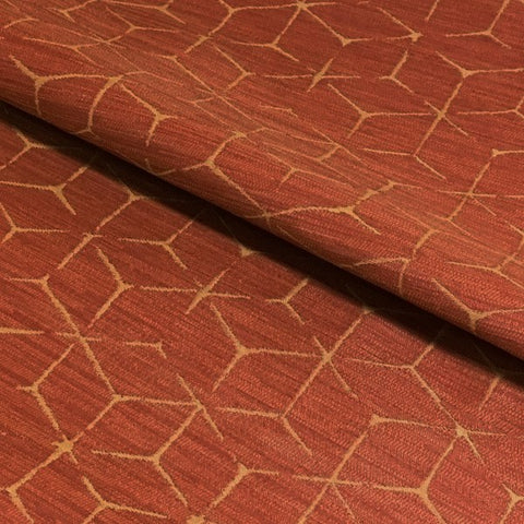 Arc-Com Itajime Tangerine Modern Design Orange Upholstery Fabric