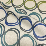 Designtex Rotary Sea Glass Overlapping Circles Upholstery Fabric
