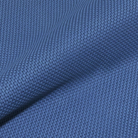 Momentum Tradition Wash Durable Textured Solid Blue Upholstery Fabric